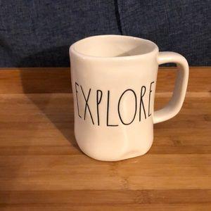 """Rae Dunn White """"Explore"""" Mug"""